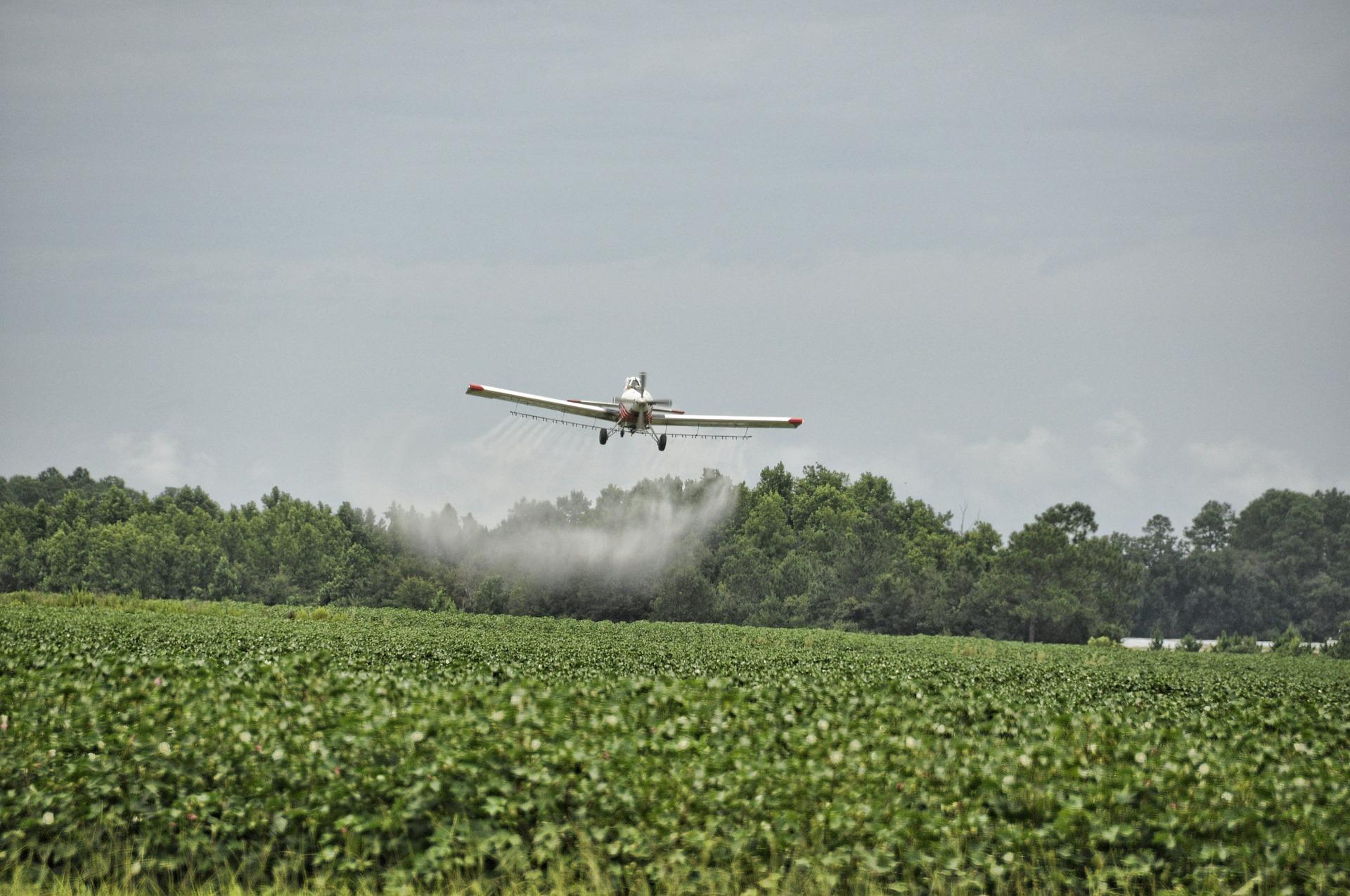 airplane spraying paraquat